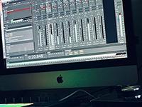 music mastering console